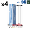 4 X ROTOLO PLOTTER F.TO cm 91,4x50 mt 90 gr/mq ANIMA 50 CARTA BIANCA A0